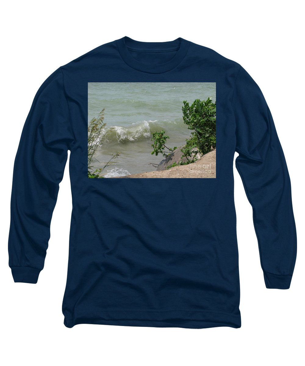 Lake Long Sleeve T-Shirt featuring the photograph Pelee Shore by Ann Horn
