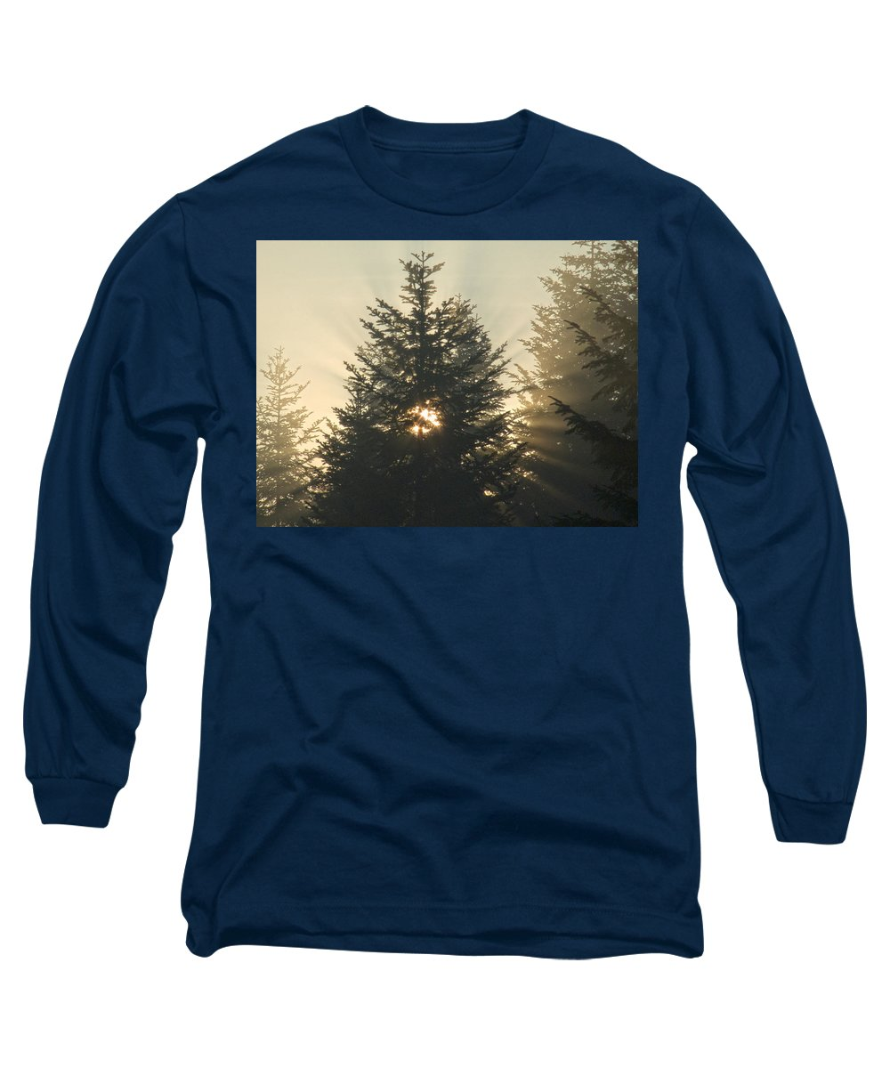 Nature Long Sleeve T-Shirt featuring the photograph Dawn by Daniel Csoka