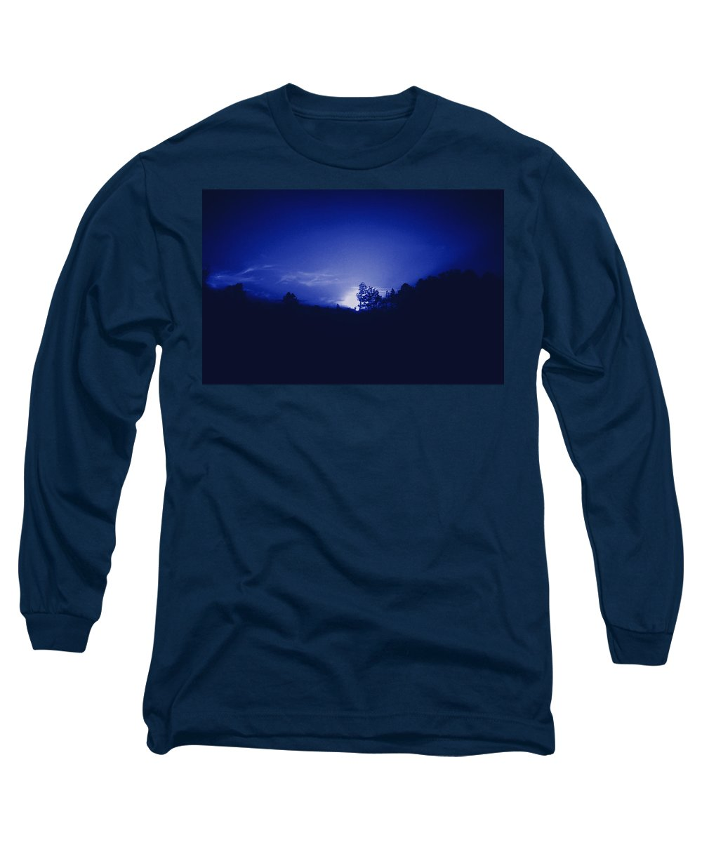 Sky Long Sleeve T-Shirt featuring the photograph Where The Smurfs Live 2 by Max Mullins