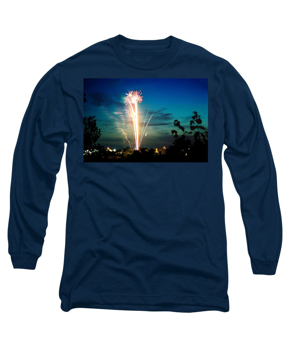 Landscape Long Sleeve T-Shirt featuring the photograph 4rth Of July by Steve Karol