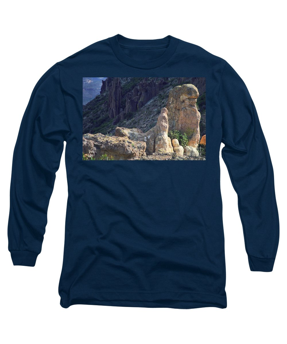 Rock Formations Long Sleeve T-Shirt featuring the photograph A Hard Ride by Kathy McClure