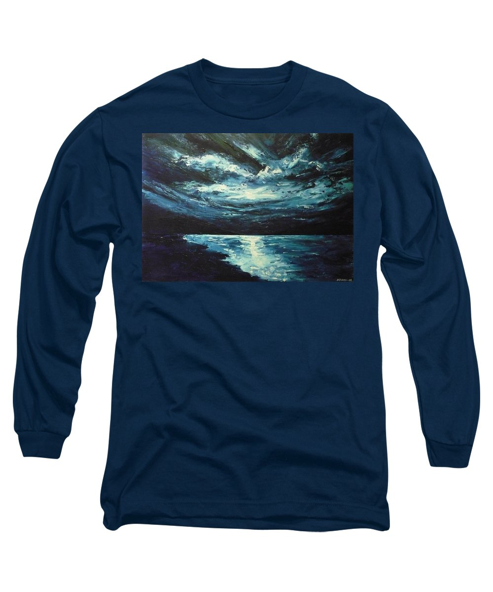 Landscape Long Sleeve T-Shirt featuring the painting A Milky Way by Ericka Herazo