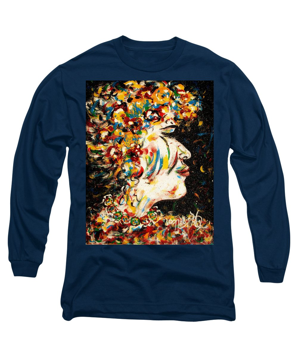 Woman Long Sleeve T-Shirt featuring the painting Absolutely Not by Natalie Holland
