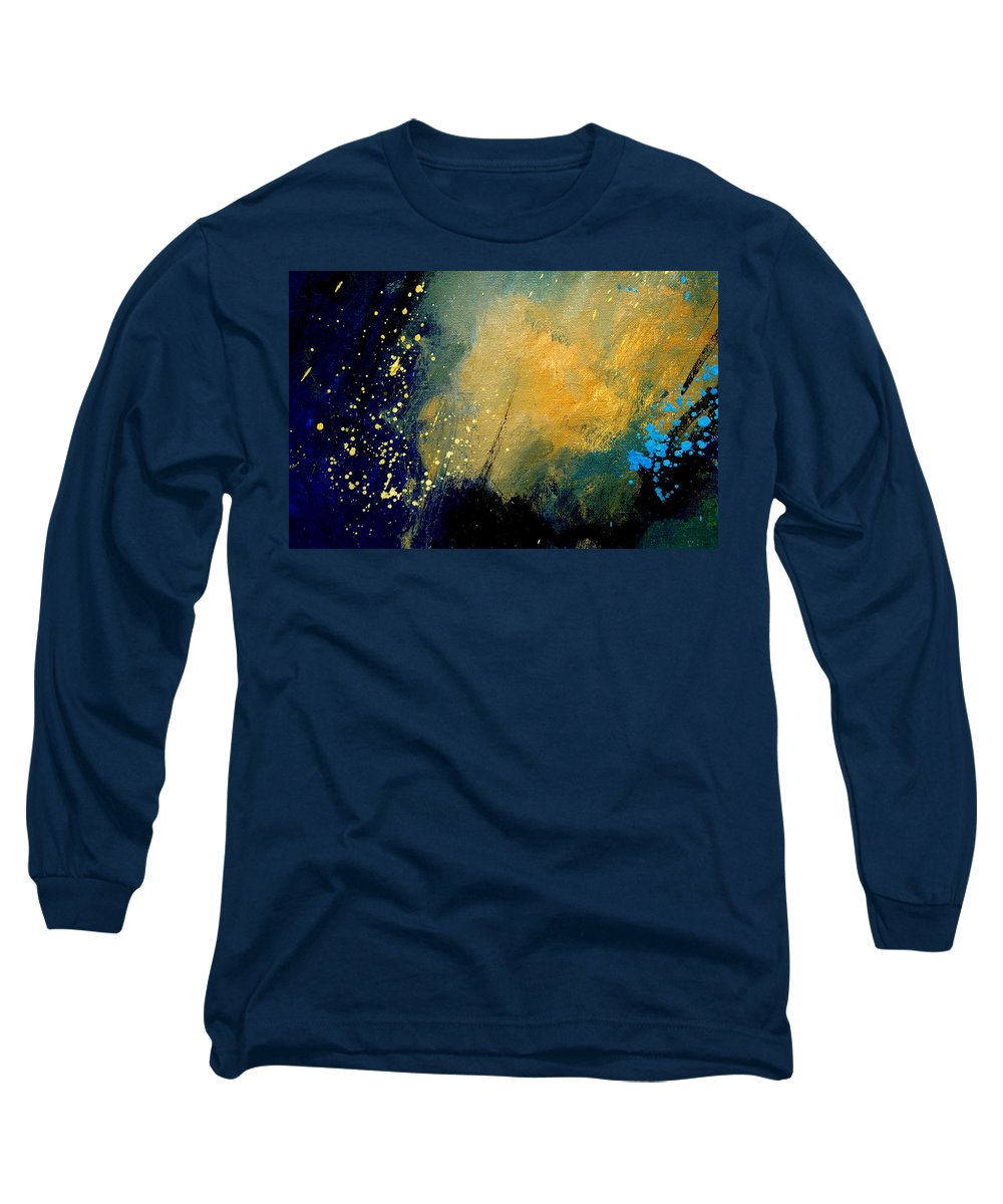 Abstract Long Sleeve T-Shirt featuring the painting Abstract 061 by Pol Ledent