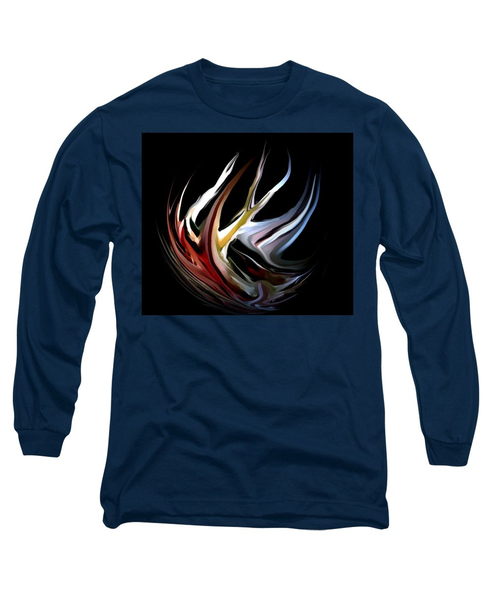 Abstract Long Sleeve T-Shirt featuring the digital art Abstract 07-26-09-c by David Lane