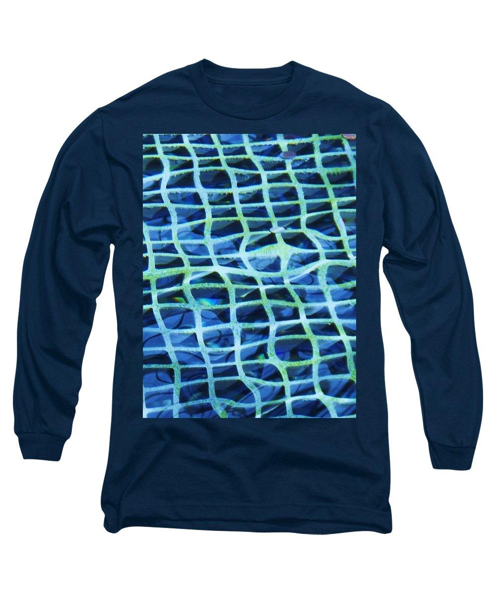 Abstract Long Sleeve T-Shirt featuring the painting Abstract Underwater by Eric Schiabor