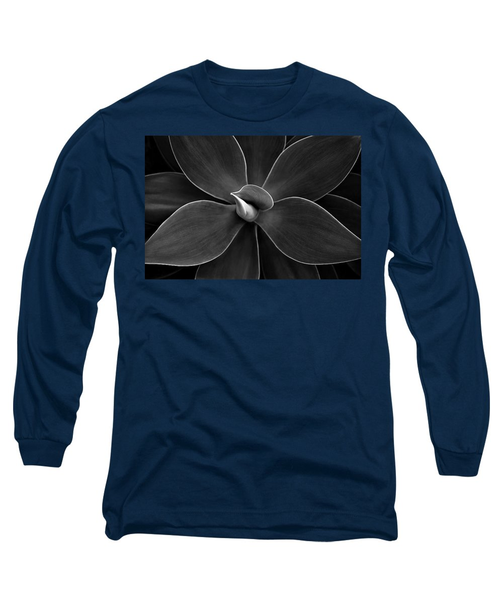 Agave Long Sleeve T-Shirt featuring the photograph Agave Leaves Detail by Marilyn Hunt