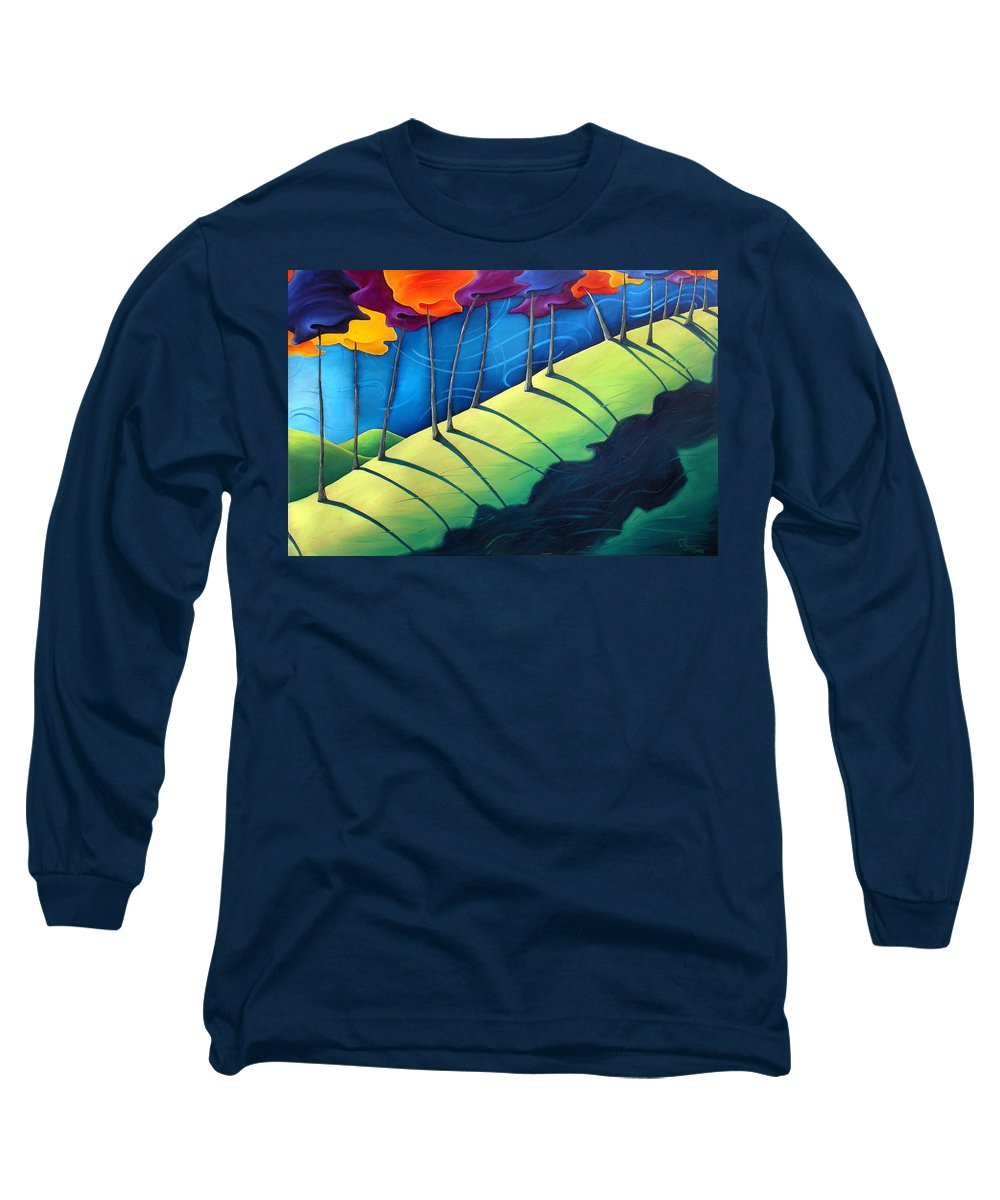 Landscape Long Sleeve T-Shirt featuring the painting All The Same In The End by Richard Hoedl