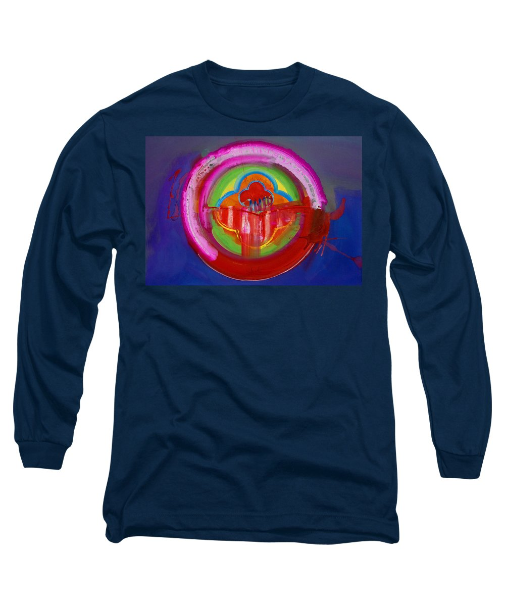 Button Long Sleeve T-Shirt featuring the painting American Evangelical by Charles Stuart