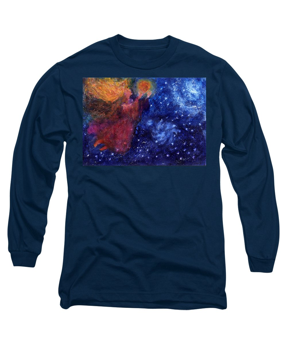 Angel Long Sleeve T-Shirt featuring the painting Angel Heart by Diana Ludwig