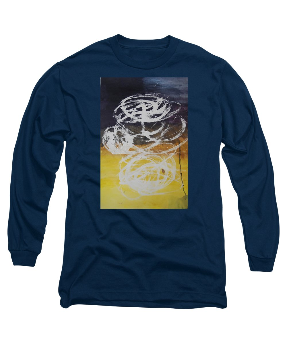 Learning Long Sleeve T-Shirt featuring the painting Aprendiendo by Lauren Luna
