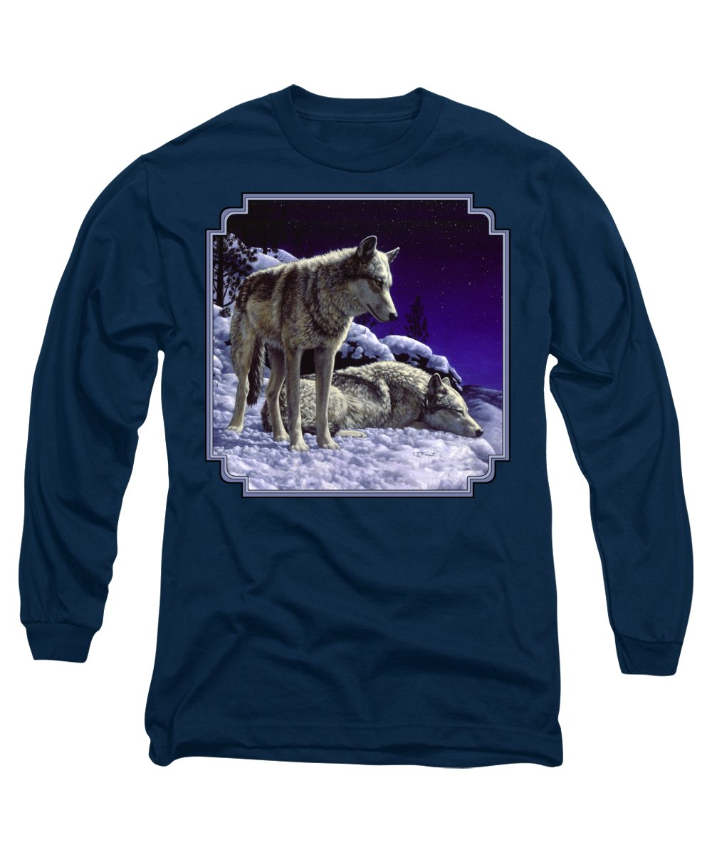 Night Sky Long Sleeve T-Shirts