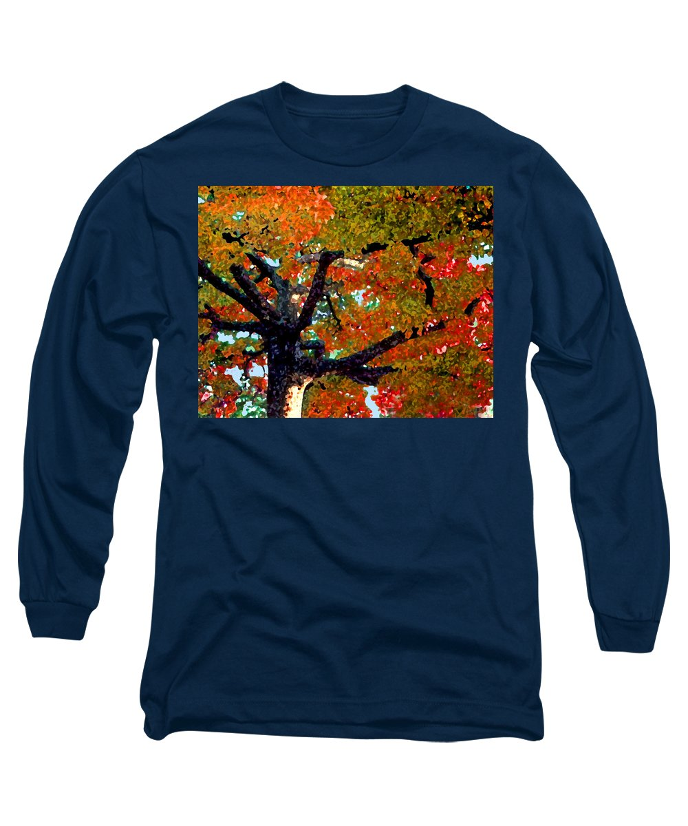 Fall Long Sleeve T-Shirt featuring the photograph Autumn Tree by Steve Karol