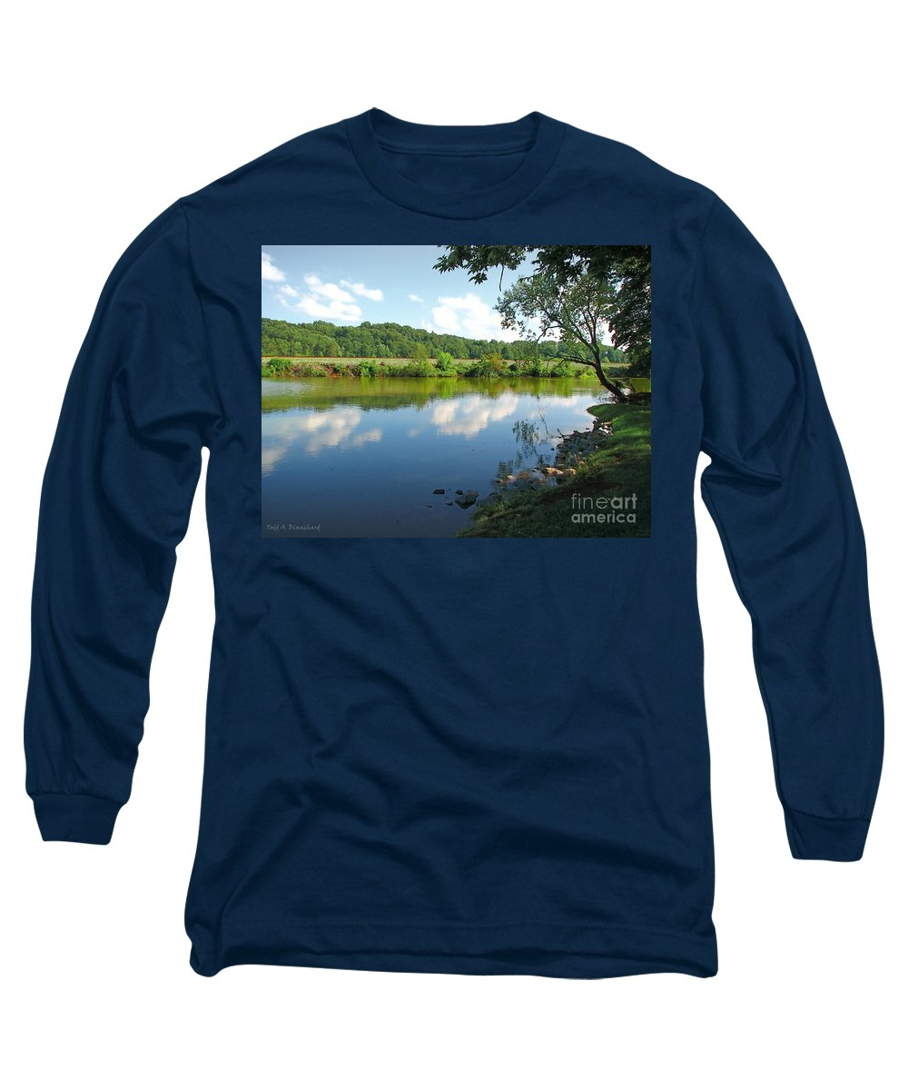 Landscape Long Sleeve T-Shirt featuring the photograph Beautiful Blue Water by Todd A Blanchard