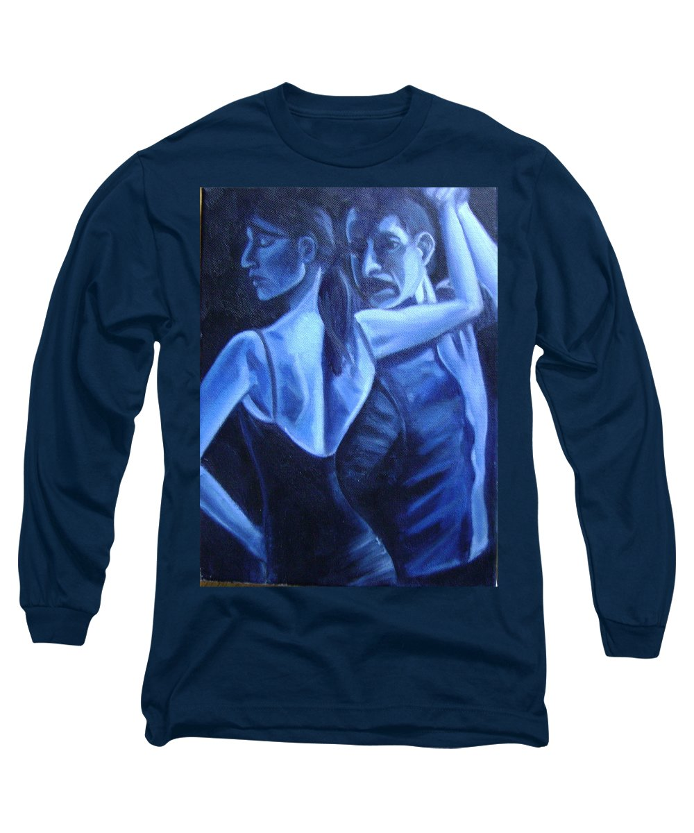 Long Sleeve T-Shirt featuring the painting Bludance by Toni Berry