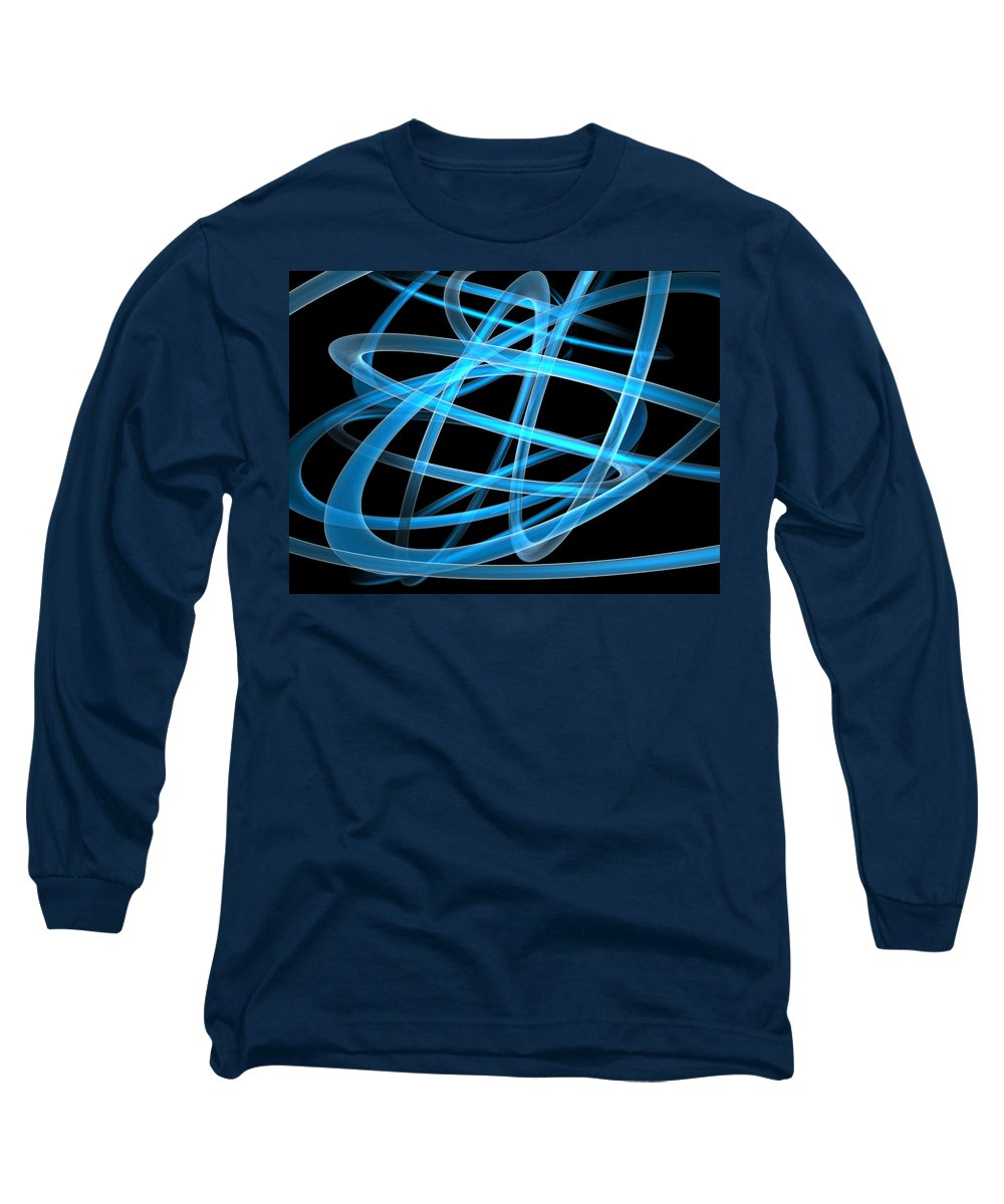 Scott Piers Long Sleeve T-Shirt featuring the painting Blue Light by Scott Piers
