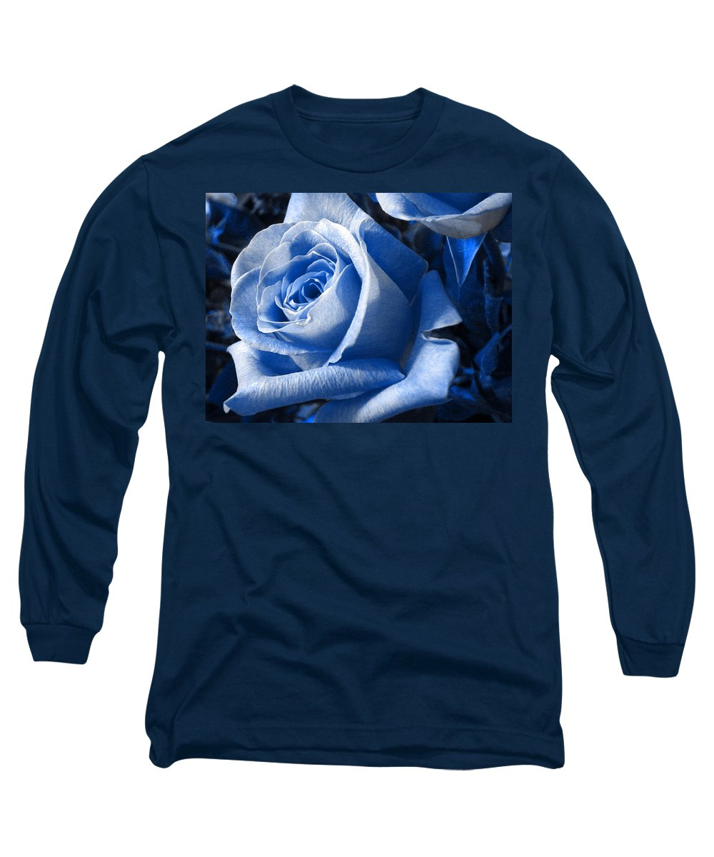 Blue Long Sleeve T-Shirt featuring the photograph Blue Rose by Shelley Jones