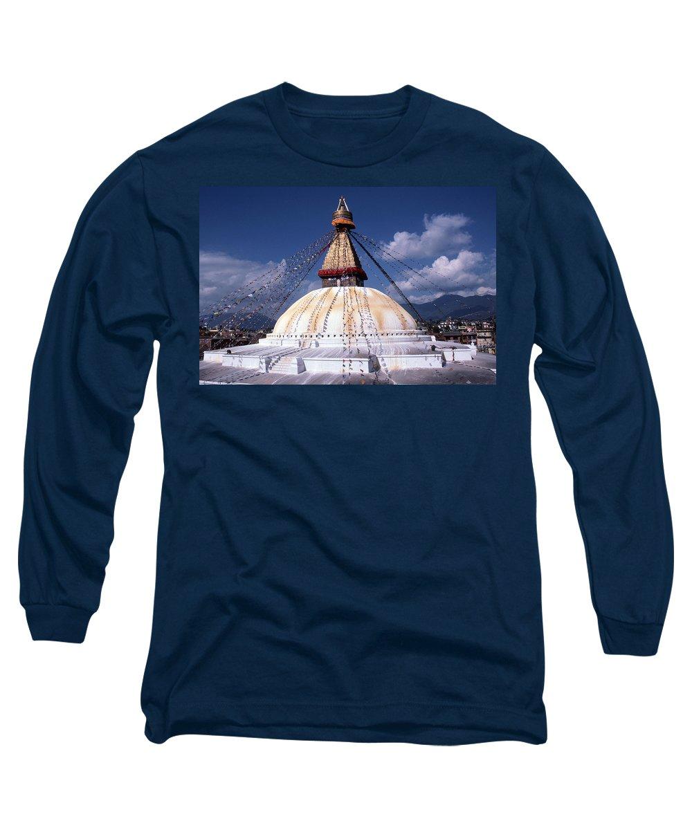 Bodhnath Stupa Long Sleeve T-Shirt featuring the photograph Bodhnath Stupa by Patrick Klauss