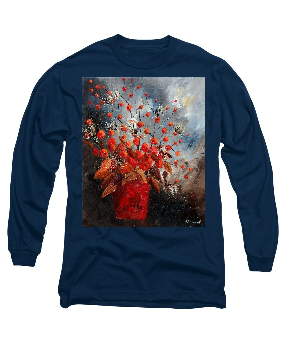 Flowers Long Sleeve T-Shirt featuring the painting Bunch 560608 by Pol Ledent