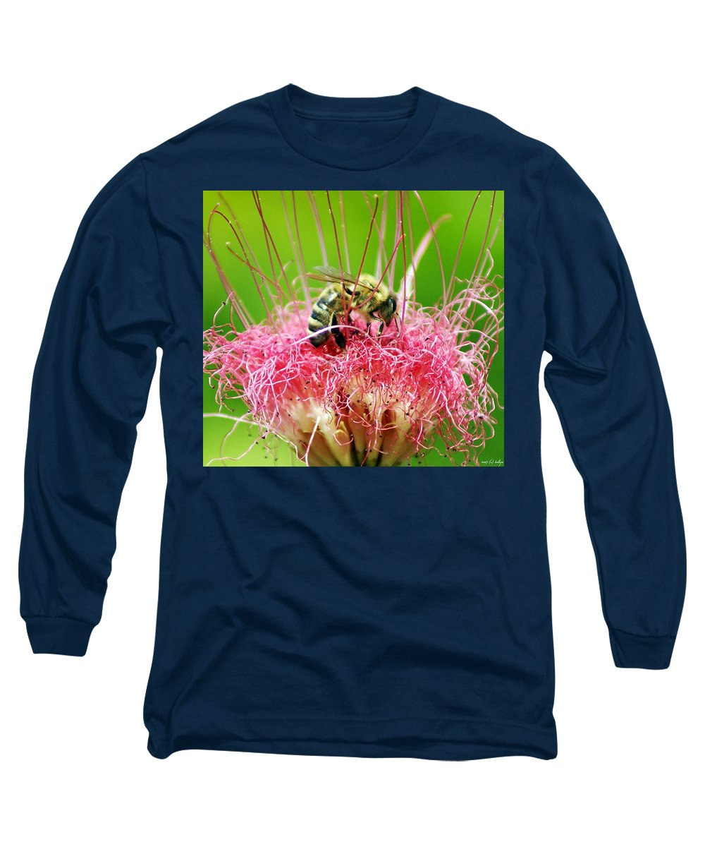 Nature Long Sleeve T-Shirt featuring the photograph Busy Bee by Holly Kempe