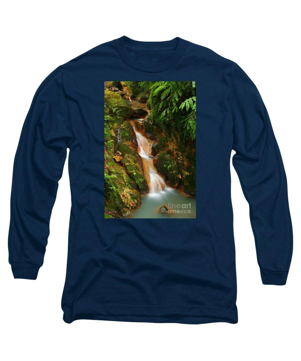 Azores Long Sleeve T-Shirt featuring the photograph Caldeira Velha Park by Gaspar Avila