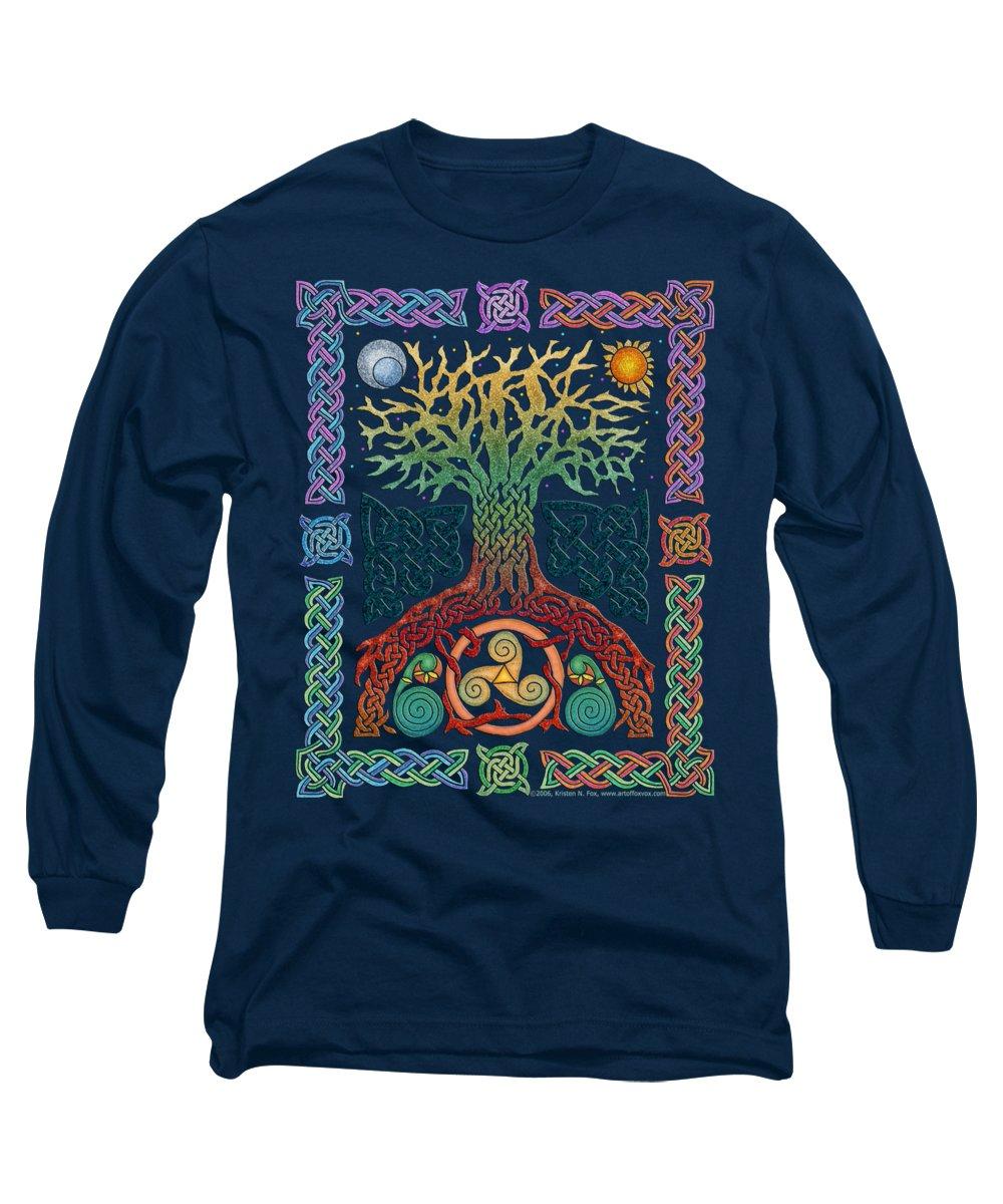 Tree Mixed Media Long Sleeve T-Shirts