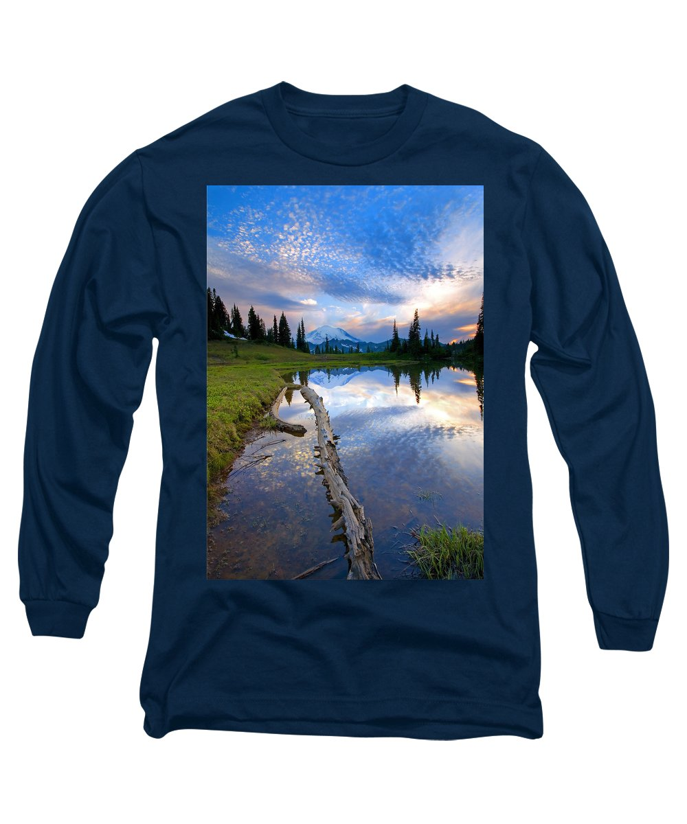 Landscape Long Sleeve T-Shirt featuring the photograph Cloud Explosion by Mike Dawson
