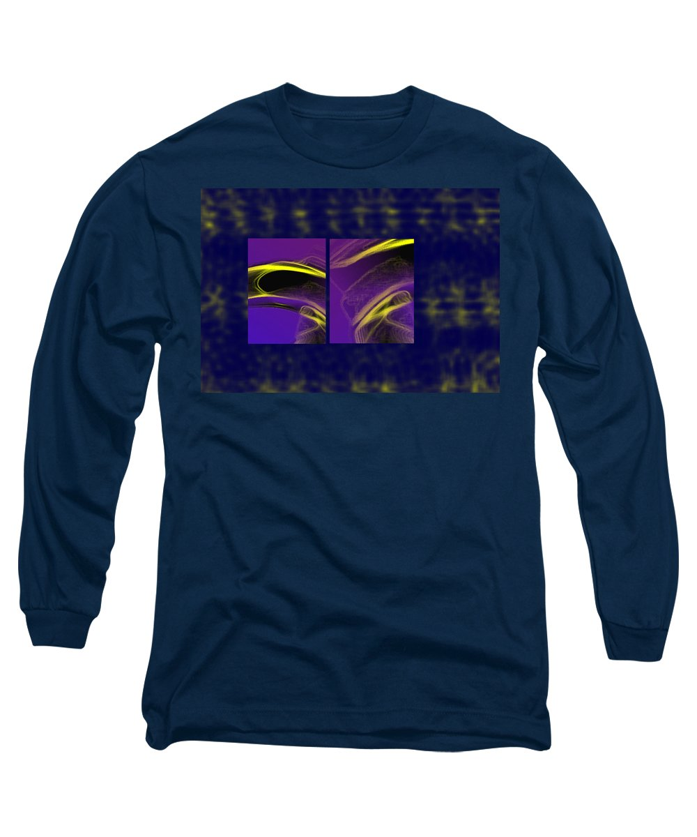 Abstract Long Sleeve T-Shirt featuring the digital art Cobra by Steve Karol