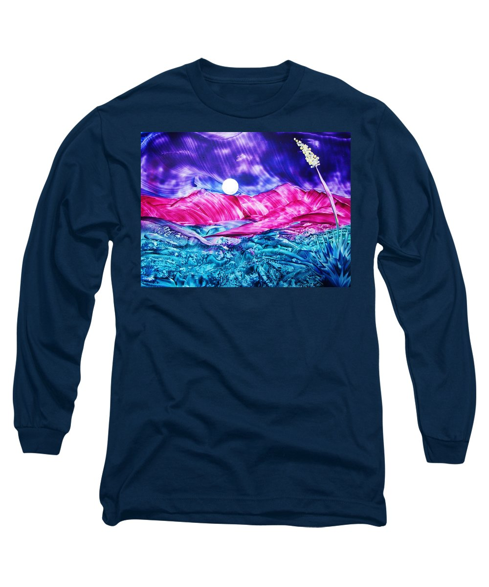 Bold Long Sleeve T-Shirt featuring the print Colorful Desert by Melinda Etzold