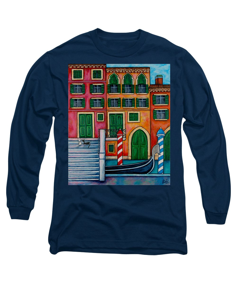 Venice Long Sleeve T-Shirt featuring the painting Colours Of Venice by Lisa Lorenz