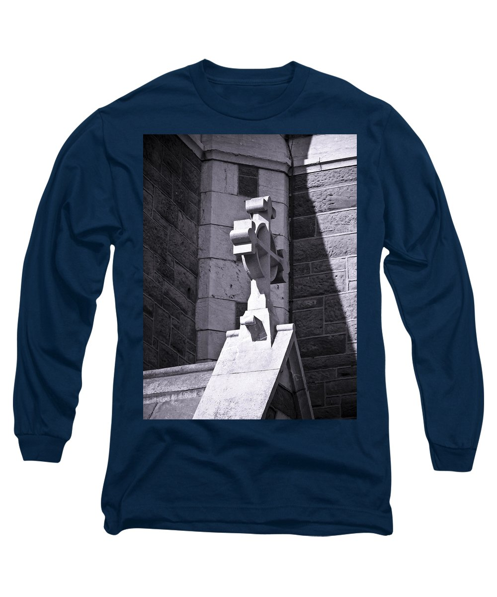 Irish Long Sleeve T-Shirt featuring the photograph Cross At St. Johns Tralee Ireland by Teresa Mucha