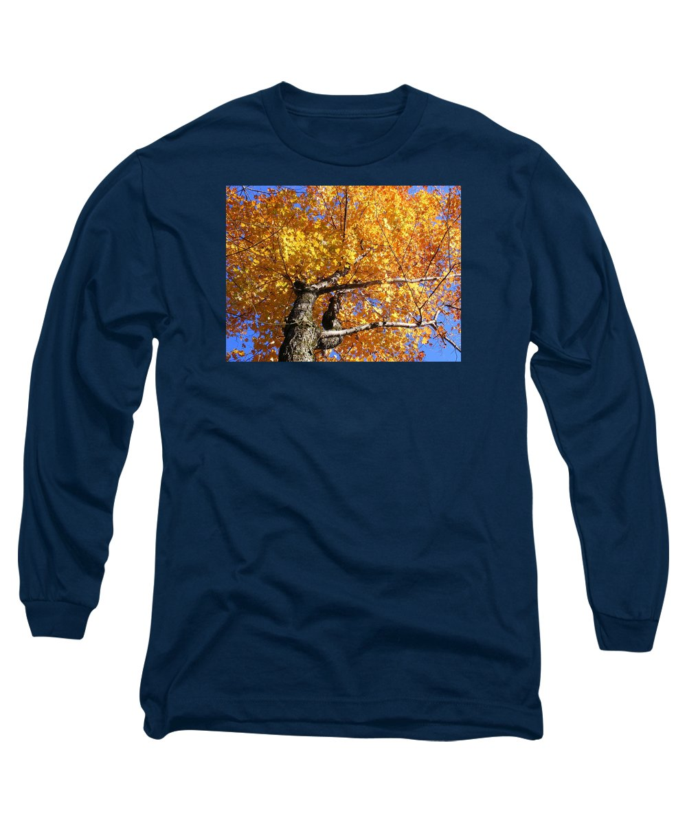 Trees Long Sleeve T-Shirt featuring the photograph Crown Fire by Dave Martsolf