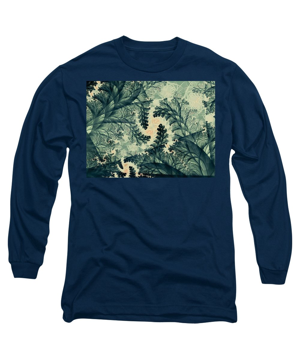 Plant Long Sleeve T-Shirt featuring the digital art Cubano Cubismo by Casey Kotas