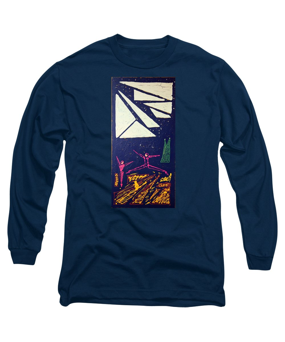 Dancers Long Sleeve T-Shirt featuring the mixed media Dancing Under The Starry Skies by J R Seymour