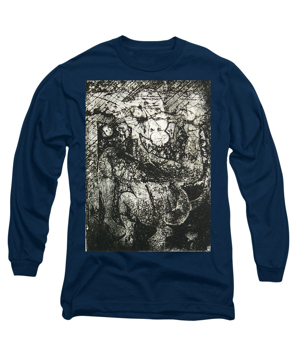 Etching Long Sleeve T-Shirt featuring the print Destroy Plate by Thomas Valentine