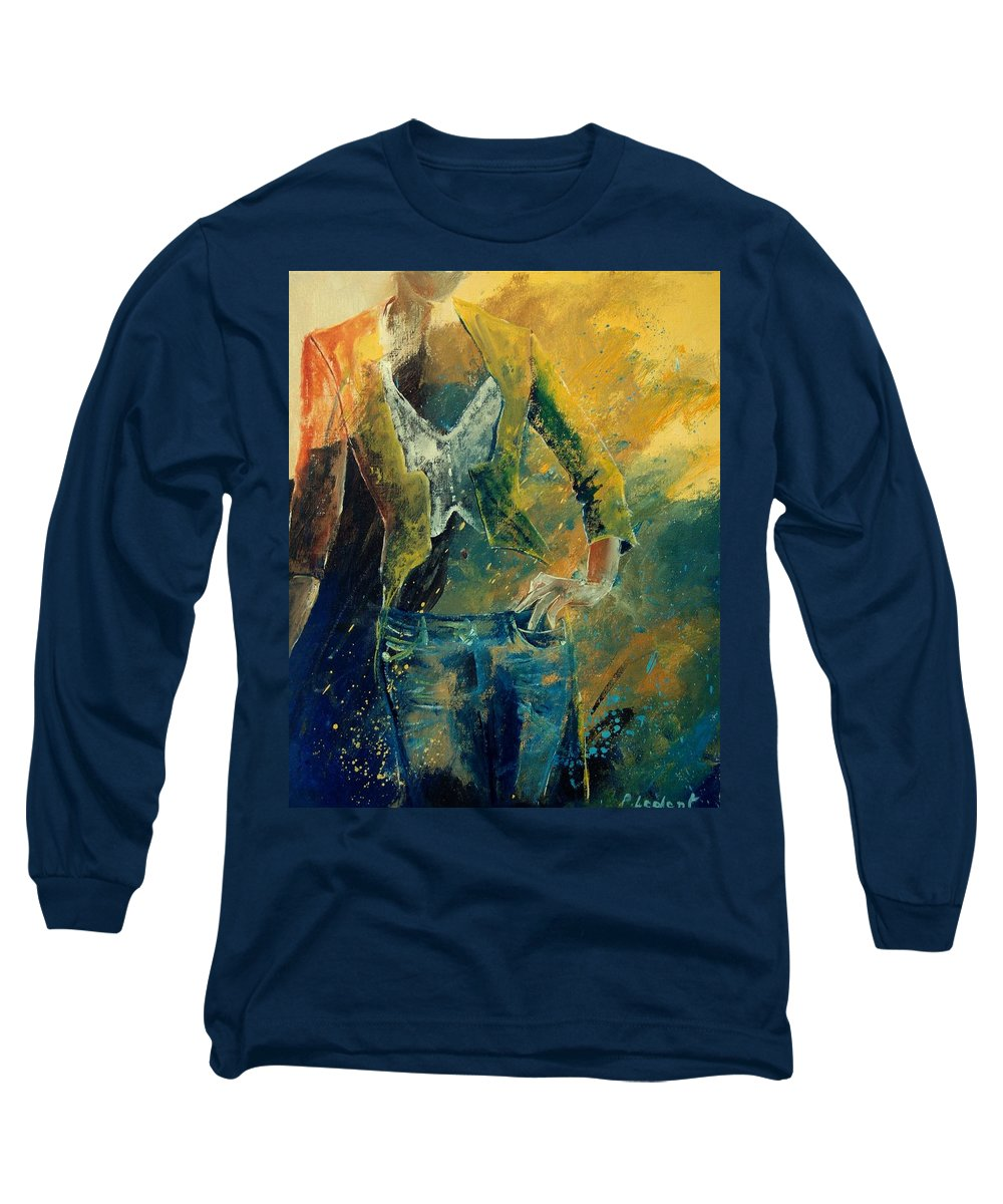 Woman Girl Fashion Long Sleeve T-Shirt featuring the painting Dinner Jacket by Pol Ledent