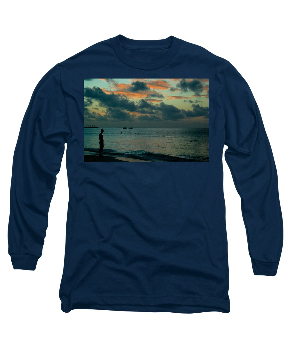 Sea Long Sleeve T-Shirt featuring the photograph Early Morning Sea by Douglas Barnett