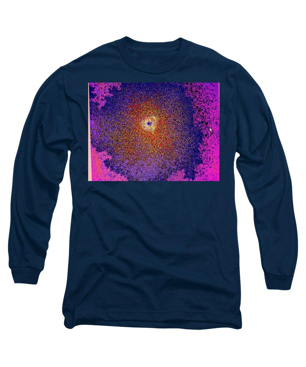 Abstract Long Sleeve T-Shirt featuring the digital art Emerging Star by Ian MacDonald