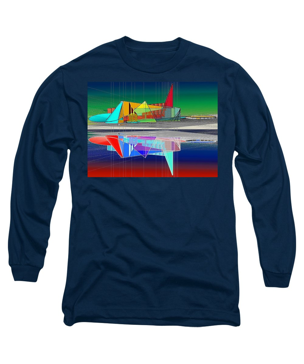 Cathedral Long Sleeve T-Shirt featuring the digital art Ethereal Reflections by Don Quackenbush