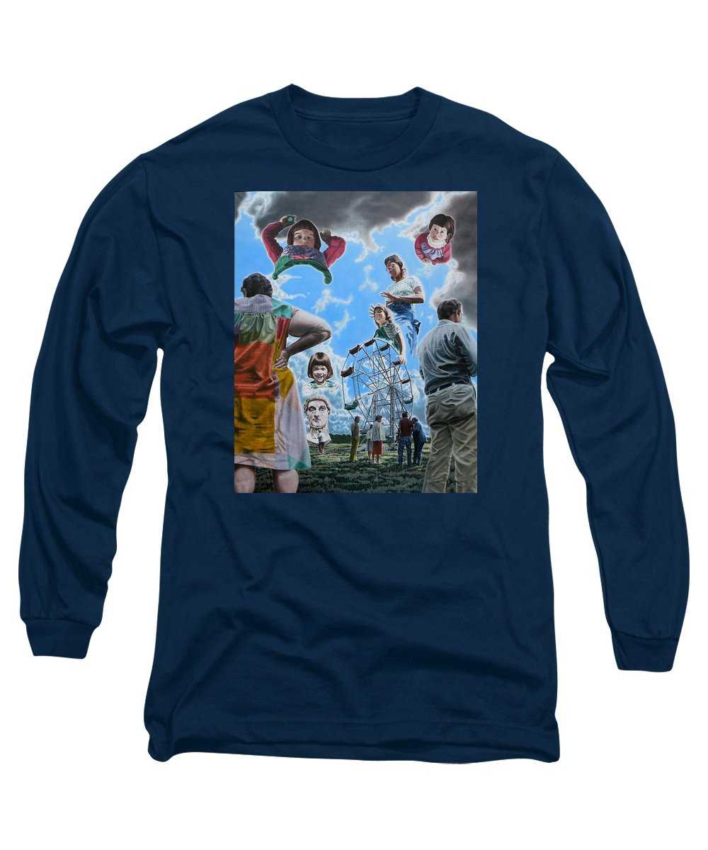 Woman Long Sleeve T-Shirt featuring the painting Ferris Wheel by Dave Martsolf