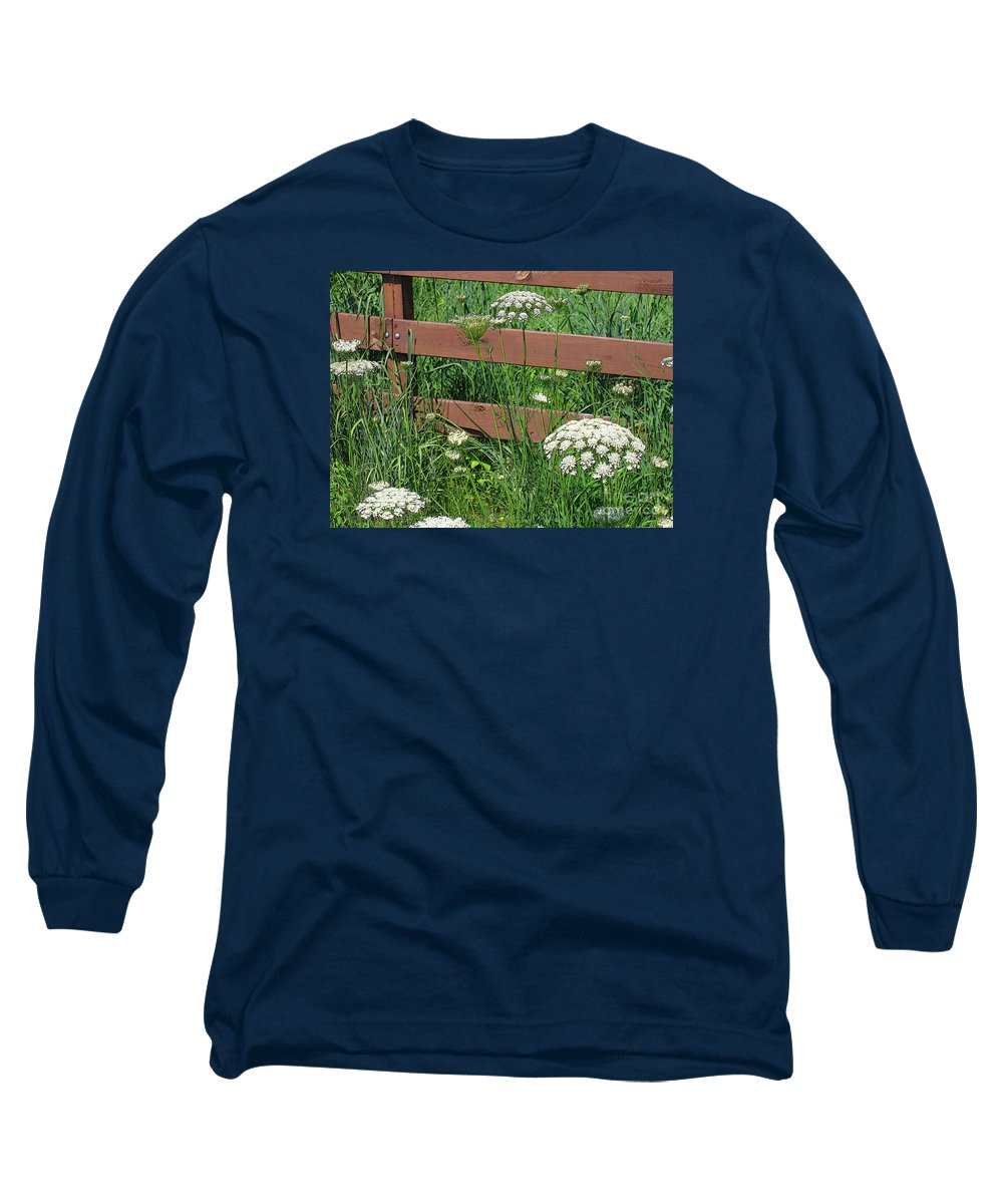 Flower Long Sleeve T-Shirt featuring the photograph Field Of Lace by Ann Horn