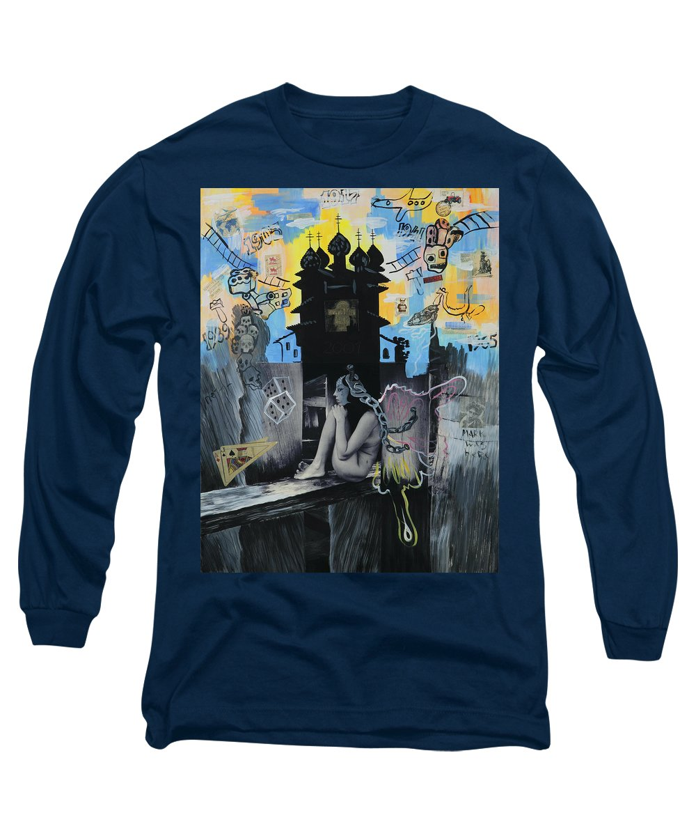 Surreal Long Sleeve T-Shirt featuring the painting First Butterfly by Yelena Tylkina