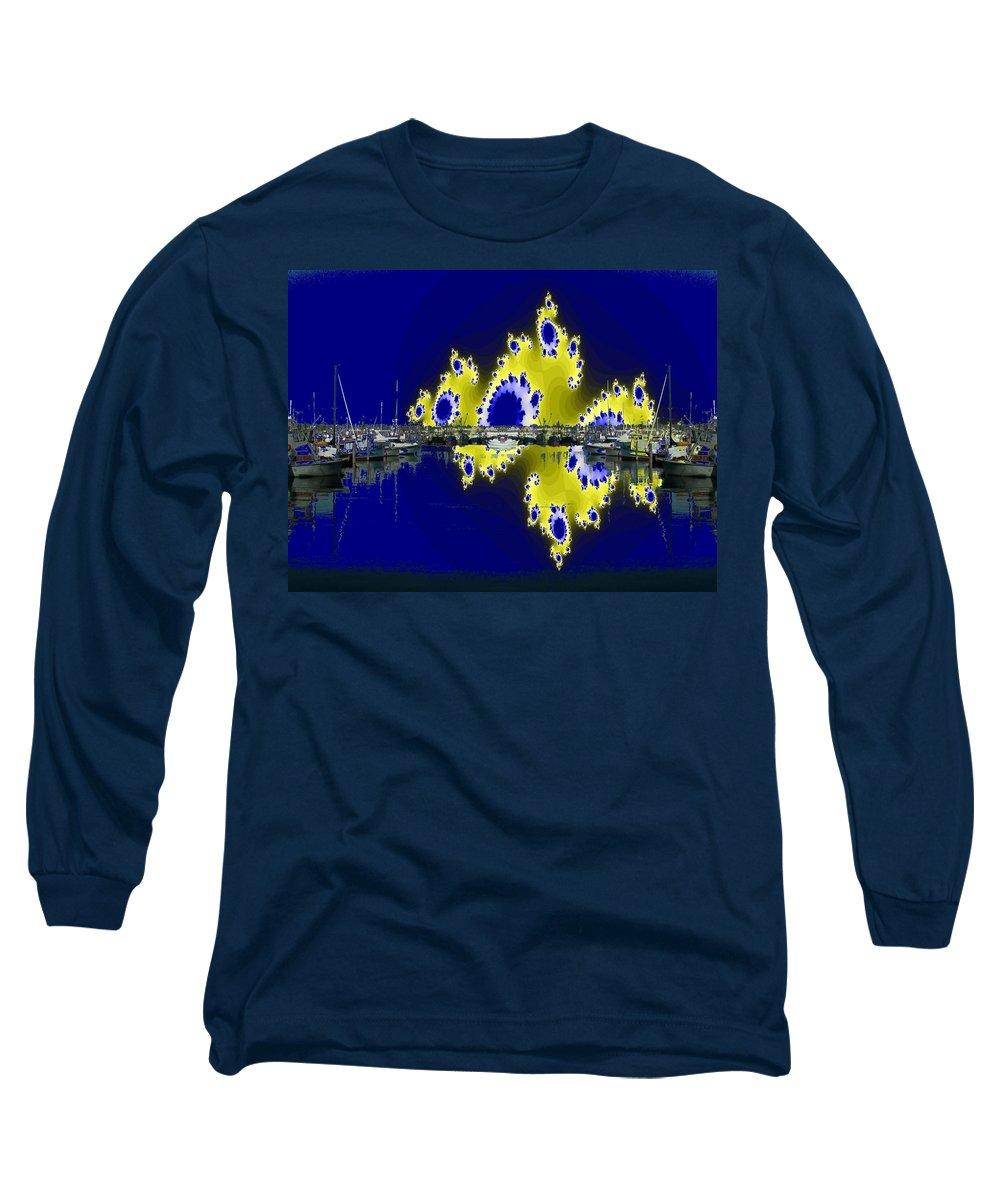 Seattle Long Sleeve T-Shirt featuring the digital art Fishermans Terminal by Tim Allen