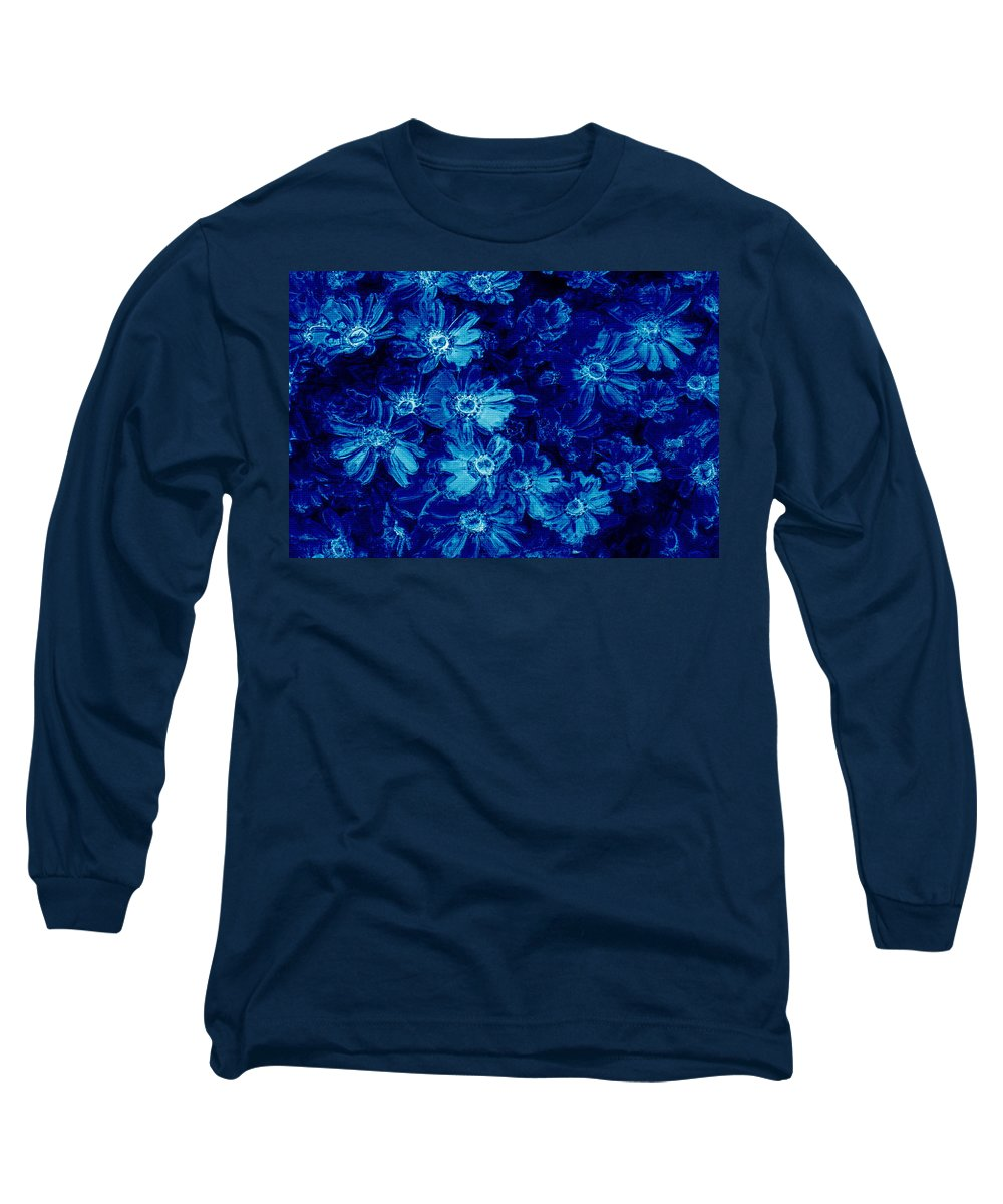 Tile Long Sleeve T-Shirt featuring the photograph Flowers On Tiles by Phill Petrovic