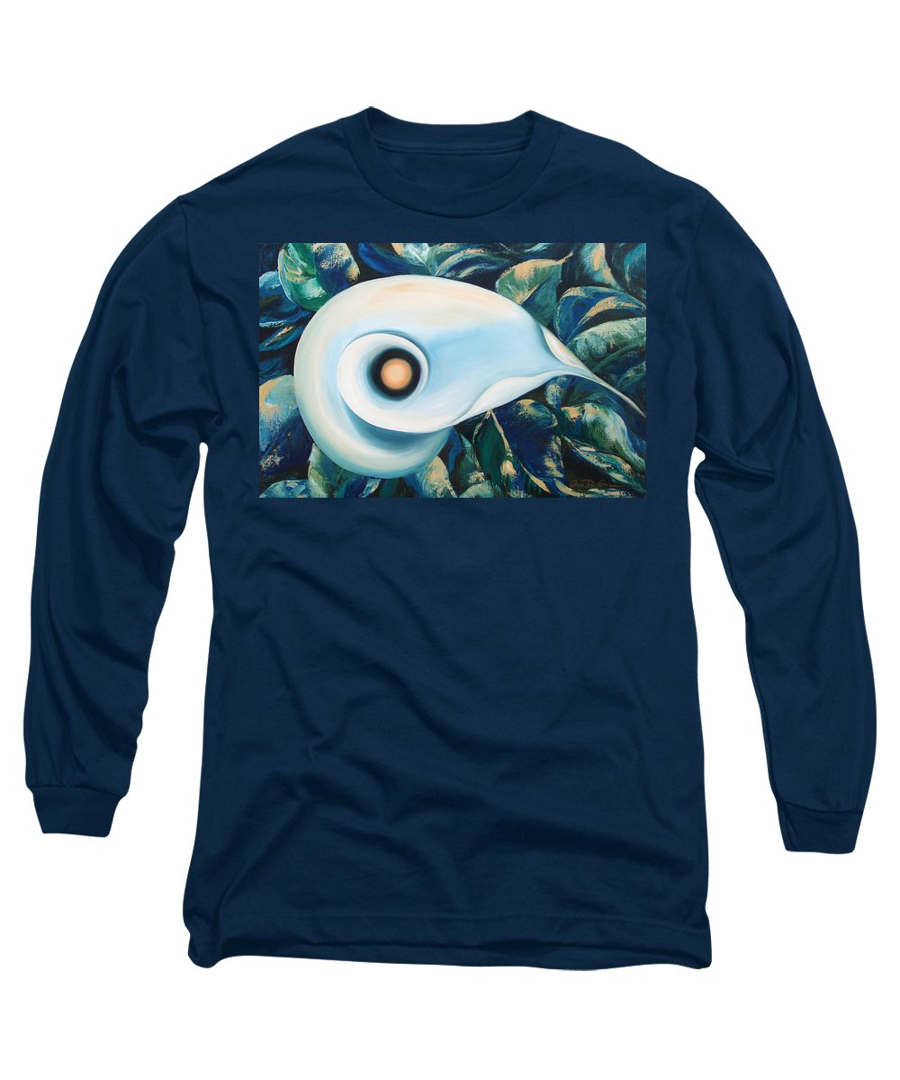 Flowers Long Sleeve T-Shirt featuring the painting From The Heart Of A Flower by Gina De Gorna