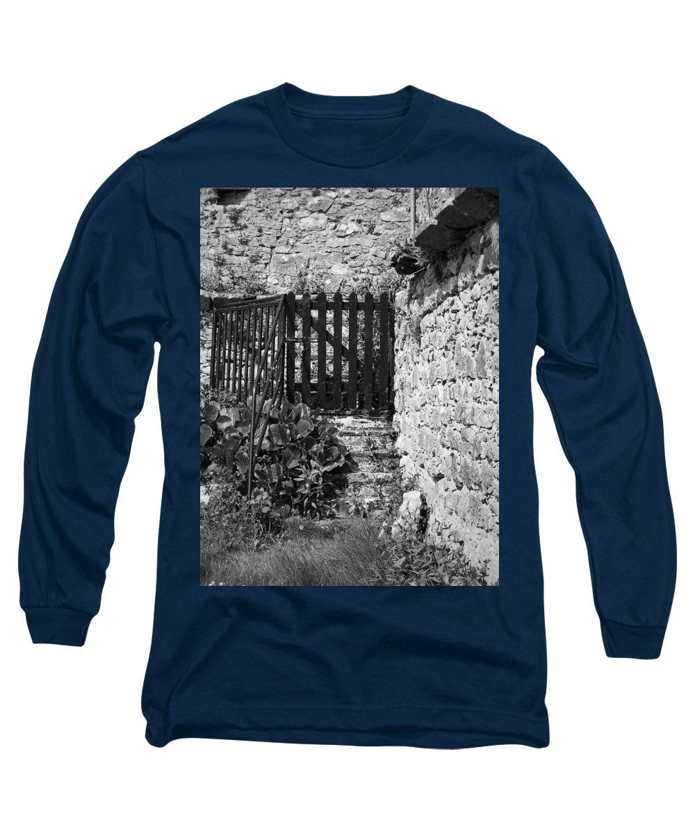 Irish Long Sleeve T-Shirt featuring the photograph Gate At Dunguaire Castle Kinvara Ireland by Teresa Mucha