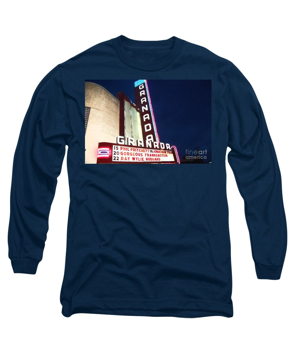 Music Long Sleeve T-Shirt featuring the photograph Granada Theater by Debbi Granruth
