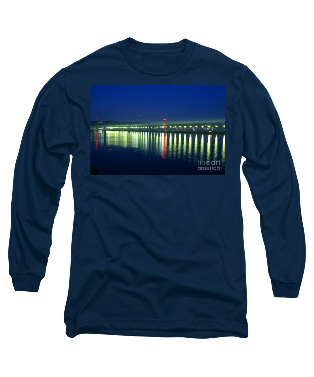 Pier Long Sleeve T-Shirt featuring the photograph Guiding Light by Robert Pearson