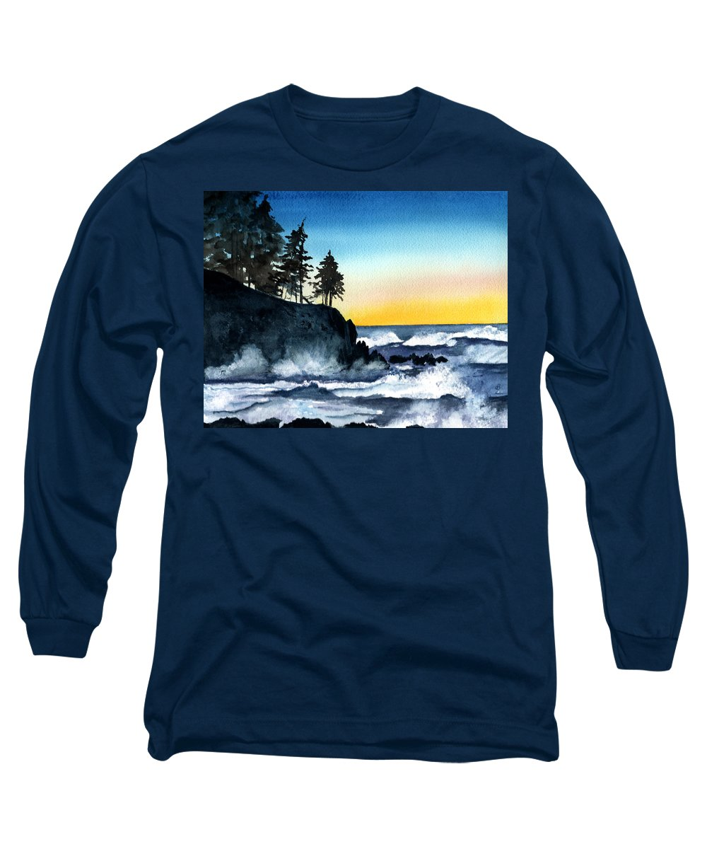 Alaska Long Sleeve T-Shirt featuring the painting Headland by Brenda Owen