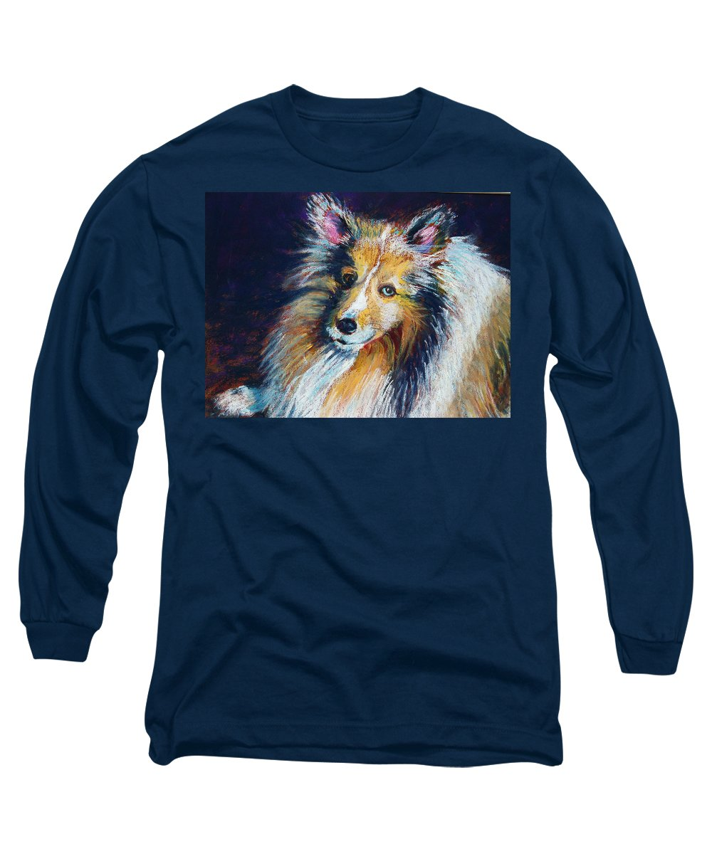 Dog Long Sleeve T-Shirt featuring the painting Her Name Is Lola by Laurie Paci
